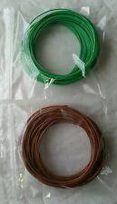 10m Green 10m Brown 1/0.6mm Solid Core Hookup Wire - Breadboard Arduino Garden