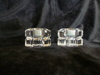 2 Vintage Mikasa 24% Lead Crystal Candle Holders With Labels Made in Germany