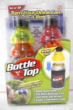 BOTTLE TOP  SNAP ON TOPPERS  SET OF 12 IN ASSORTED COLORS