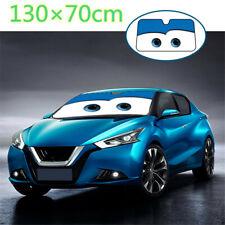 130×70cm Blue Cartoon Eyes Car Windshield Sun Visor Shade Cover w/Suction Cups