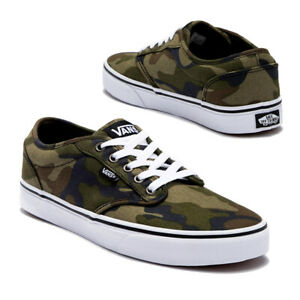 NEW Vans Atwood Canvas Camo Camouflage Sneaker Shoes Youth Big Kid 6 Women's 7.5