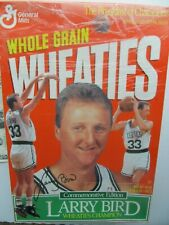Scarce 1990 Vintage Larry Bird Commemorative Wheaties Cereal Box, BOSTON CELTICS