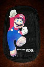 Nintendo DS Super Mario Bros Travel Case Bag Pouch Black Zippered