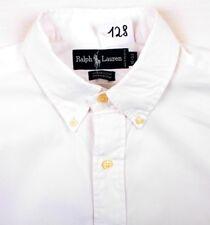 Ralph Lauren Herren Hemd YARMOUTH Langarm Weiß Uni Baumwolle Gr. L (H128)