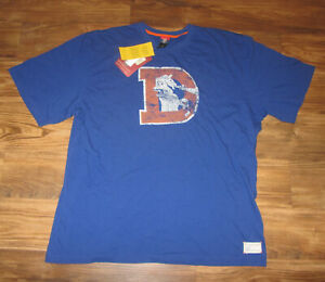 Denver Broncos Mens T-shirt, Reebok Gridiron Classics, Old Logo, Size 2XL, NEW
