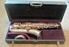 "1922 MARTIN ""THE MARTIN"" SILVER PLATED PROFESSIONAL C MELODY SAX COMPLETE"