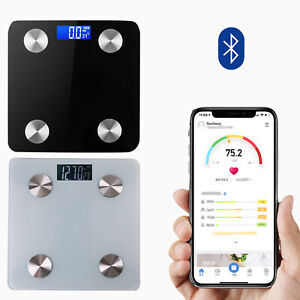 Bathroom Weight Digital Scales Smart Body Fat BMI Bluetooth Weighing 180KG UK