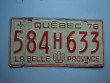 1976 QUEBEC CANADA  La Belle License Plate 584 H 633 Can