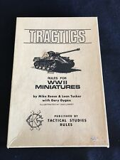 Tractics Rules For WWII Miniatures Tactical Studies Rules 1975