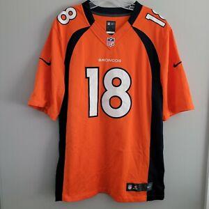 Nike Limited NFL Denver Broncos Peyton Manning 18 Orange Jersey Mens XL Sewn