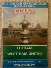 Fulham v West Ham United 1975 FA Cup Final matchday programme