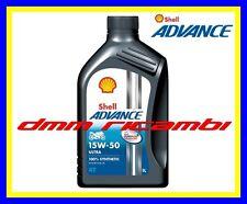 1 Litro Olio Motore 4 tempi SHELL ADVANCE ULTRA4 PUREPLUS 15W50 Sintetico SM MA2