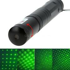 5mW 532nm Green Light Adjustable Starry  Laser Pointer Pen Flashlight A7F5