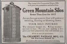 1917 AD(XX24)~CREAMERY PACKAGE MFG. CO. RUTLAND, VT. GREEN MOUNTAIN SILOS