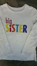 Girls carter's big SiSTER white long sleeve shirt 4