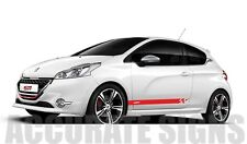 PEUGEOT 208 GTi GRAPHICS SET STICKERS STRIPES CAR DECALS ANY COLOUR
