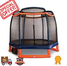 7 Foot Trampoline Hexagon Play Center Outdoor Patio Kids Children Fun Ages 3-10