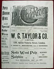 Worlds Paper Trade Review For Paper Makers & Engineers London 8/18/1911