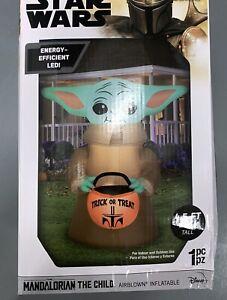 Star Wars Mandalorian The Child Baby Yoda 4.5 FT Airblown Inflatable Halloween