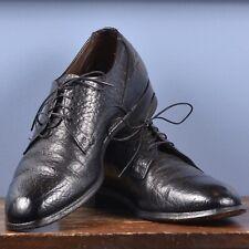 Men/'s Vintage 70s Cognac Brown Leather Toughlite Rajah Crepe Gum Sole Lace Up Derby Boat Top Stitched Oxford Moccasin Shoes  Size 10.5 10