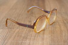 Vintage Playboy 4506 Clear Yellow & Brown Butterfly Sunglasses Frames 52-13