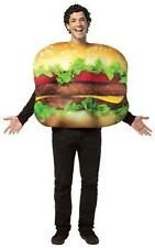 Adults Cheeseburger Fancy Dress Costume Funny Food Stag Hen Do Unisex Hamburger