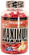 Weider Maximum Krea-Genic - Kreatin - Creatin - 240 Kapseln + Megabonus