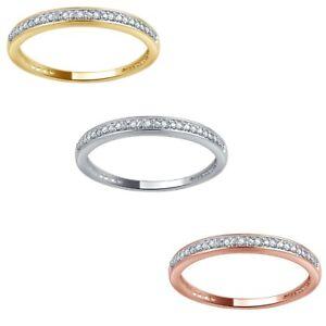 10K Solid Gold 0.05ct TDW Diamond Women's Wedding Band By Unique Design