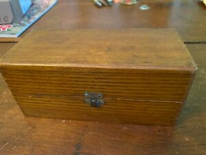 Vintage Sewing Machine Accessories in Oak Dovetailed Box