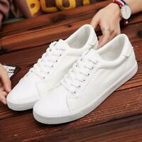 White Men Athletic Sport Sneakers Outdoor Running Casual Shoes Trainers Lace Up