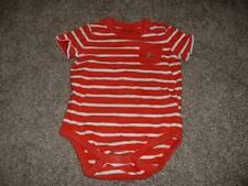 baby GAP Boys Orange Striped Bear Pocket Bodysuit Size 6-12 months mos Top Shirt