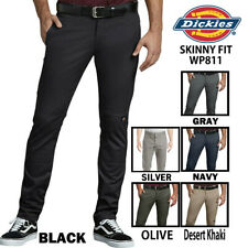 DICKIES FLEX Skinny Straight Fit LONG PANTS Double Knee Work Pants WP811