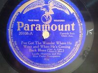 Lucille Hegamin Blues 78 RPM PARAMOUNT 10""