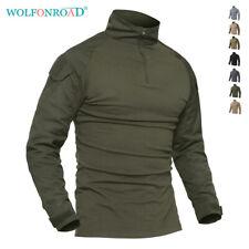 Mens Long Sleeve Military Tactical Shirts Hunting Combat Army Shirt Outdoor Tops