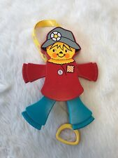 Vintage Fisher Price 1978 Scarecrow Pull Crib Toy Blue Red