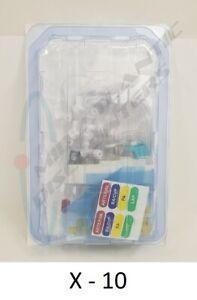 "10 ICU Medical Transpac IV Trifurcated Monitoring Kit 84"" Macrodrip Pole Mount"