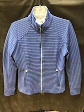 Zero Restriction Wind Jacket Blue With White Stripes Size Medium