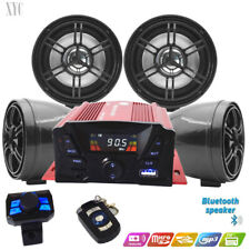 4 Ch 3' UTV/ATV/Snowmobile/Marine Amplified Speaker System Bluetooth, Anti-theft