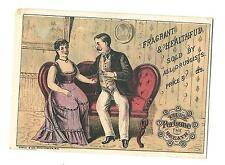 Dental Trade Card TRIX Breath Perfume Sold By Druggists Couple Courting Sofa