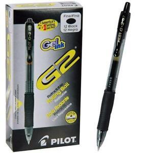 Pilot Gel Pen G2 Retractable 0.5mm Black