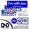 Joe Biden For President 2020 Democratic Bumper Sticker - 6 PACK