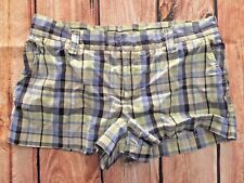 AMERICAN EAGLE OUTFITTERS BLUE PLAID SHORTS WOMENS SIZE 4 STRETCH NWOT