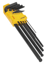 Sealey S01099 9 Piece Imperial Extra-Long Ball-End Hex Key Set SUM21