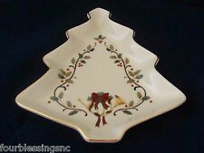 """MIKASA HOLIDAY ELEGANCE 9"""" SCULPTED TREE-SHAPED SERVING DISH/PLATE-NEW-FK001/502"""
