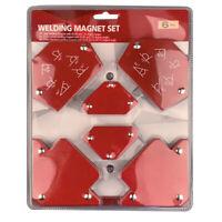 6pcs Welding Magnet Magnetic Square Welder Holder Arrow Clamp 45° 90° 135°