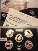 2015 S America the Beautiful QUARTER Silver Proof Set United States Mint 5 x 90%