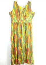 270e49d2b85 Jessica London Plunge Maxi Dress Plus Size 16 Tie Dye Sleeveless Zip Up  Womens