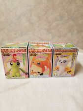 3 1999 Vintage Digimon Official Bandai 4-Inch Plush - New in Box!