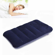 Inflatable Pillow Travel Air Cushion Camping Beach Car Plane Head Rest Support