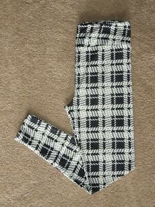 LuLaRoe OS Black & White Plaid ~ Tweed New Release Leggings